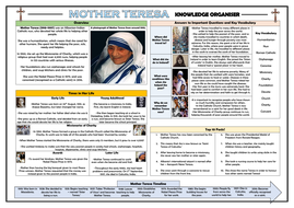 Mother Teresa Knowledge Organiser!