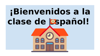 FIRST SPANISH LESSON. PRIMERA CLASE. START OF THE YEAR LESSON. INTRODUCTORY LESSON ESPANOL