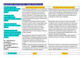 ocr a level religious studies   business ethics essay plan