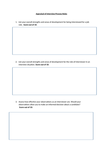 BTEC Level 3 Business Unit 8: Recruitment and Selection Process - C1 Review and Evaluation