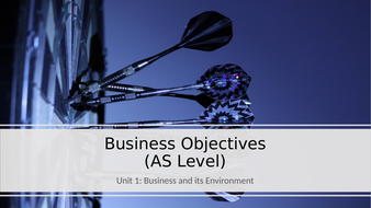 Unit 1 Business and Its Environment: Business Objectives (AS Level).pptx