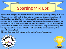 Sporting Mix-Ups