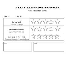 Behavior Trackers (English AND Spanish)