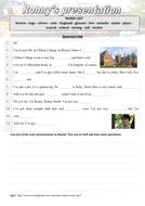 Oral comprehension - Ronny's presentation (English / ESL)