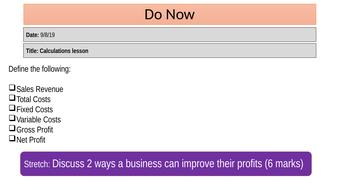 GCSE Business (9-1) Theme 2 revision lessons