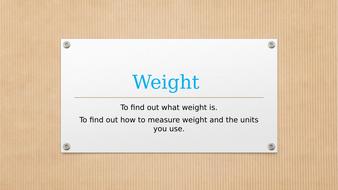 KS1/KS2 - Science/Maths - Measurement - Weight - PowerPoint