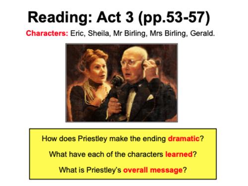 Inspector Calls (Priestley) - GCSE AQA - KS4 | Teaching ...