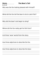 In the Snow Oxford Reading Tree Stage 11 Worksheets