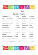 Día de Muertos and Ser vs. Estar - Spanish - Year 8 - Year 9