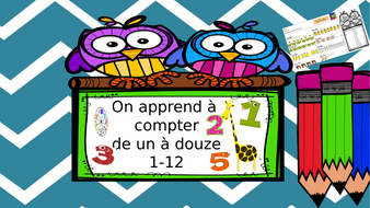 Learn how to count in French up to 12 /KS2 and lower ability students/visual aids
