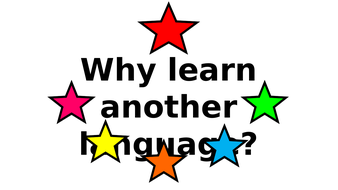 Why Learn Another Language? Display