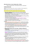 OCR A Level RS, Ethics- Situation Ethics essay plans