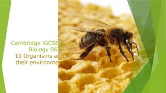 Cambridge IGCSE® Biology 0610, 19 Organisms and their environment