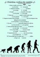 Verbos de cambio (Spanish transformation verbs)