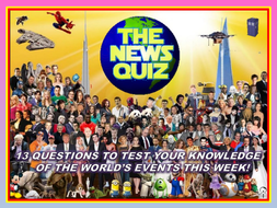 The News Quiz 16th - 23rd September 2019 Form Tutor Time Current Affairs