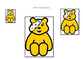 Children in Need size ordering