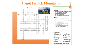 Planet-Earth-2---Mountains---Crossword---Answers.pptx