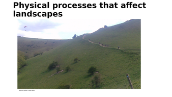 Physical processes that affect landscapes