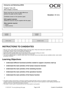 CAMNAT Enterprise and Marketing RO64 LO6 Progress Task