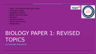GCSE Biology Paper 1: Whole Topic PPT