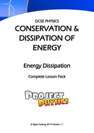 GCSE Physics Dissipation of Energy Complete Lesson Pack (with Practicals)