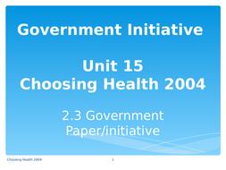 2.3-Govt_initiative.Choosing-Health-2004.ppt