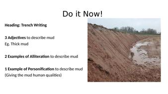 WW1 Trench Descriptive Writing
