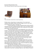 Descriptive Writing: My Father's Desk