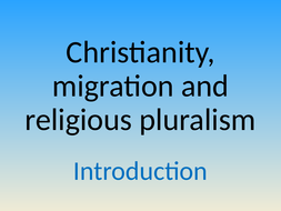 Year 12 General RE/PSHCE - Religious Pluralism