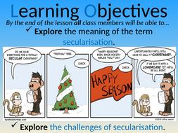 Year 12 General RE/PSHCE - Secularisation