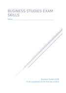 AQA Business Studies 12 mark exam technique booklet