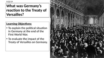 AQA: German Reaction to the Treaty of Versailles