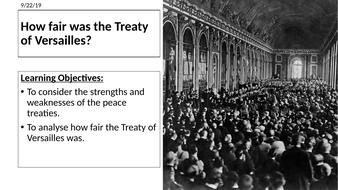 AQA: How fair was the Treaty of Versailles
