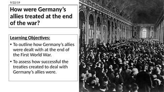 AQA: How were Germany's allies treated?