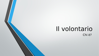 Italian GCSE Voluntary work