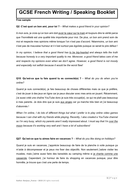 FREE SAMPLE - GCSE French Writing & Speaking Booklet + model answers (EDEXCEL)
