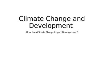 Politics: Climate Change and Development