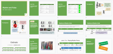 KS3 Music - Rhythm & Pulse - (Full SOW) - Presentations, Resources and Work Book (Requires Google)