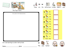 SEND Instructional Language EYFS Ofsted Outstanding Lesson  symbolised