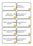 Nutrient Question Cards