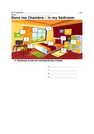 Dans ma Chambre Interactive GCSE French Worksheet - AQA, Edexcel, OCR