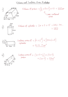 Volume and Surface Area Mistakes