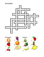 Vruchten (Fruit in Dutch) Crossword