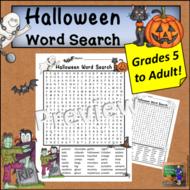 Halloween Word Search *Hard*