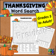 Thanksgiving Word Search *Hard*