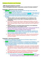 OCR A level Religious Studies - Religious Pluralism & Theology DCT Essay Plan