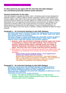 OCR A level Religious Studies - Religious Pluralism & Society DCT Essay Plan