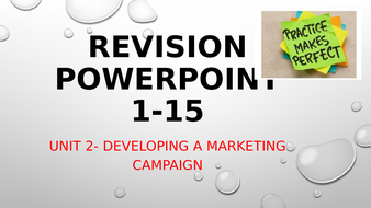 Unit 2 - Developing a Marketing Campaign