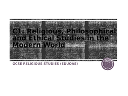 JEC Eduqas GCSE Religious Studies Component 1 Exam technique workbook (Route A)