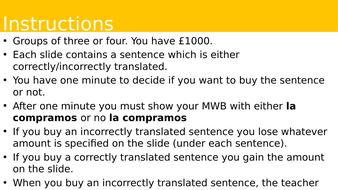 Translation Auction